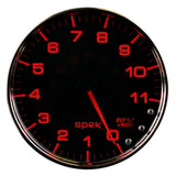"AutoMeter - 5"" IN-DASH TACHOMETER, 0-11,000 RPM, SPEK-PRO, BLACK DIAL, CHROME BEZEL, CLEAR LENS  (P23931)"