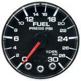 "AutoMeter - 2-1/16"" FUEL PRESSURE, 0-30 PSI, STEPPER MOTOR, SPEK-PRO, BLACK/CHROME, FLAT ANTIGLARE LENS  (P316318)"