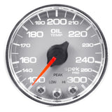 "AutoMeter - 2-1/16"" OIL TEMPERATURE, 100-300 °F, STEPPER MOTOR, SPEK-PRO, SILVER DIAL, CHROME BEZEL, CLEAR LENS  (P32221)"