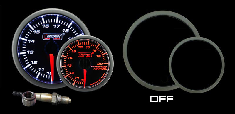 Pro Sport Gauges - Pro Sport Gauges - 52mm Premium Amber / White Air Fuel Ratio kit-Amber/White