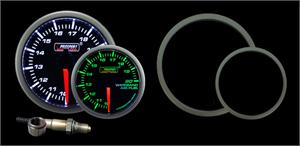 Pro Sport Gauges - Pro Sport Gauges - 52mm Green/White Premium Wideband Air Fuel Ratio kit