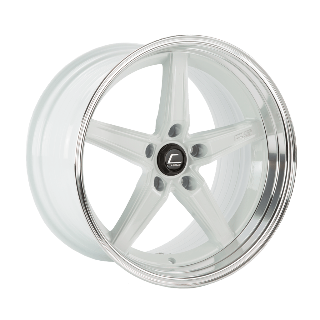 Cosmis Racing R5 White w/ Machined Lip Wheel 18x10.5 +22mm 5x120