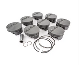 "MAHLE PISTONS - Motorsports Pistons Small Block Chevy PowerPak Piston & Ring Kit Forged 4032 High Silicon Low Expansion Aluminum Alloy,Bore: 3.776"" (SBC550776T01)"