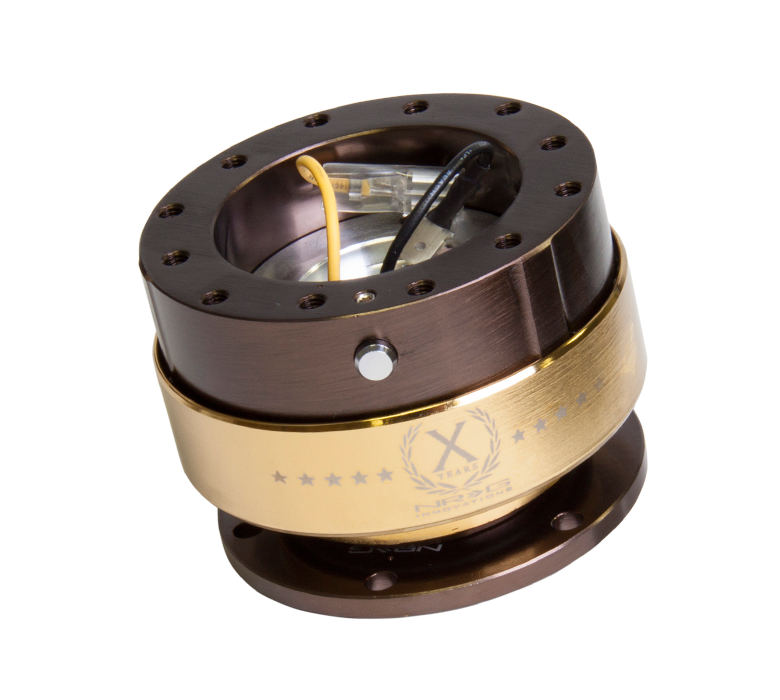NRG - Gen 2.0 Quick Release(B Bronze Body with Chrome Gold Ring)