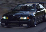 Big Duck Club - E36 Coupe Overfender Kit (55mm)