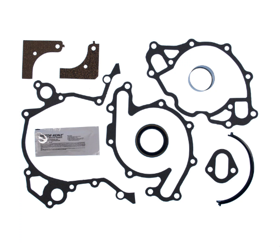 CLEVITE - MAHLE Timing Cover Gasket Set 1962-1985 Small Block Ford 221/255/260/289/302/351W Contains Repair Sleeve Pape (JV922)