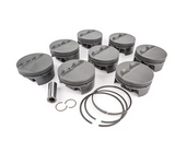 "MAHLE PISTONS - Motorsports Pistons Small Block Chevy PowerPak Piston & Ring Kit Forged 4032 High Silicon Low Expansion Aluminum Alloy,Bore: 4.040"" (SBC062040I18)"
