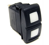 Painless Wiring - Painless Performance Products Contura XIV Rocker Switch White LED On/Off/On  (57052)
