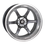 Cosmis Racing XT-006R Gun Metal w/ Machined Lip Wheel 18x9.5 +10mm 5x114.3