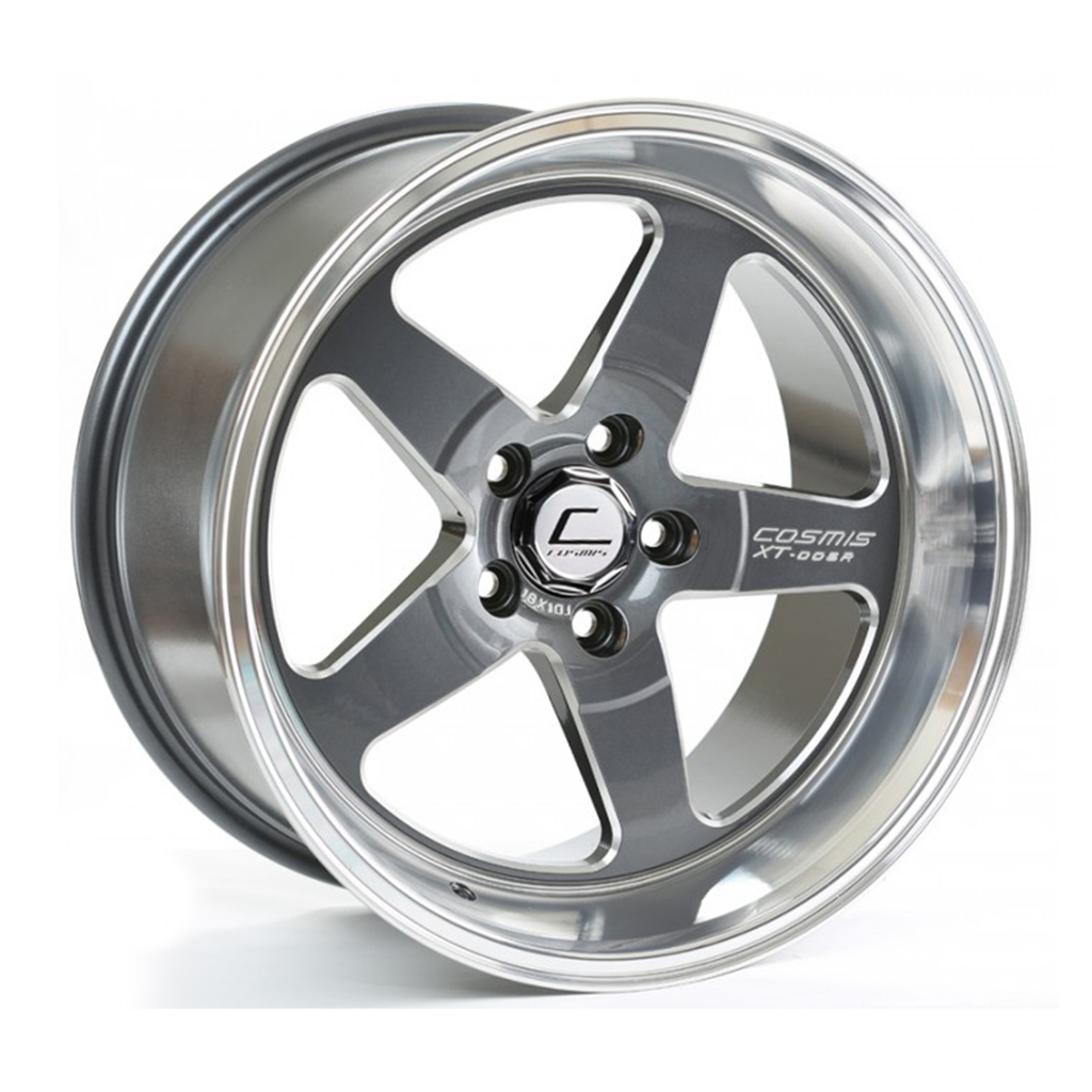 Cosmis Racing XT-005R Wheel Gun Metal w/ Machined Lip 18x9 +25mm 5x114.3