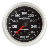 "AutoMeter - 2-5/8"" WATER TEMPERATURE, W/ PEAK & WARN, 100-260 °F, STEPPER MOTOR, SPORT-COMP II (7655)"