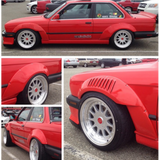 DTM Fiberwerkz - BMW E30 GTR-S Rivet On Front + Rear Fender Flares