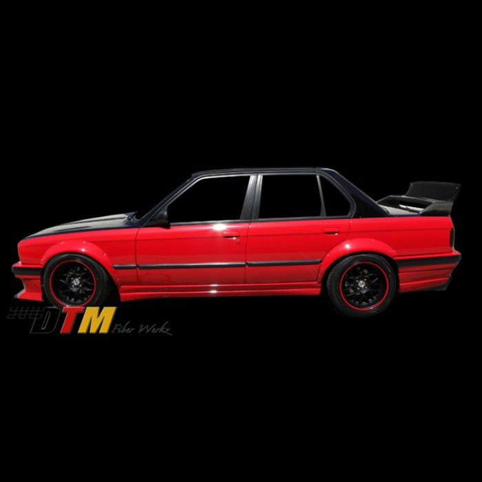 DTM Fiberwerkz - BMW E30 Rivet On Style Front + Rear Fender Flares