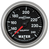 "AutoMeter - 2-5/8"" WATER TEMPERATURE, 120-240 °F, 6 FT., MECHANICAL, SPORT-COMP II  (7632)"