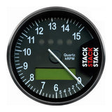 AutoMeter - DISPLAY TACHOMETER, BLACK, 0-6-15K RPM (ST700SR-S)
