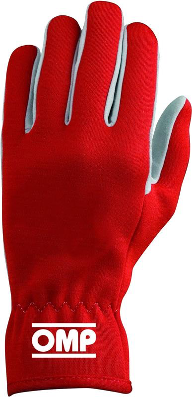 OMP AMERICA - RALLY RACING GLOVES (RED / SMALL)