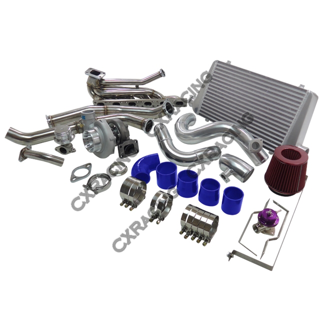 CXRaxing - Top Mount GT35 Turbo Kit Manifold Downpipe Intercooler For 92-98 BMW E36