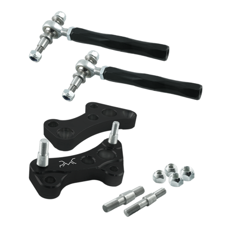 PMC - BMW (E36 / E46 ) Lock kit  + Adjustable steering rods (BLACK)