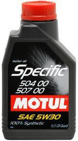 Motul - 1L OEM Synthetic Engine Oil SPECIFIC 504 00 507 00 - 5W30 - Universal (106376)