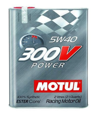 Motul - 2L Synthetic-ester Racing Oil 300V Power 5W40 - Universal (104242)