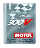Motul - 2L Synthetic-ester Racing Oil 300V TROPHY 0W40 - Universal (104240)