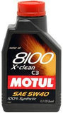 Motul - 5L Synthetic Engine Oil 8100 5W40 X-CLEAN - Universal (102051)