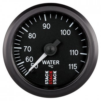 AutoMeter - WATER TEMP, 6 FT., MECHANICAL, 52MM, BLACK, 50-115 °C, 6 FT., MECHANICAL,, 3/8
