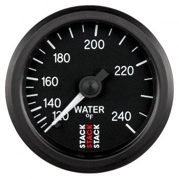 AutoMeter - WATER TEMP, 6 FT., MECHANICAL, 52MM, BLACK, 120-240 °F, 6 FT., MECHANICAL, 1/2