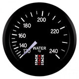 "AutoMeter - WATER TEMP, 6 FT., MECHANICAL, 52MM, BLACK, 120-240 °F, 6 FT., MECHANICAL, 1/2"" NPT (M) (ST3108)"