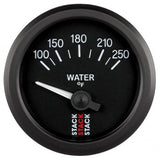 "AutoMeter - WATER TEMP, ELECTRIC, 52MM, BLK, 100-250 °F, AIR-CORE, 1/8"" NPTF (ST3208)"