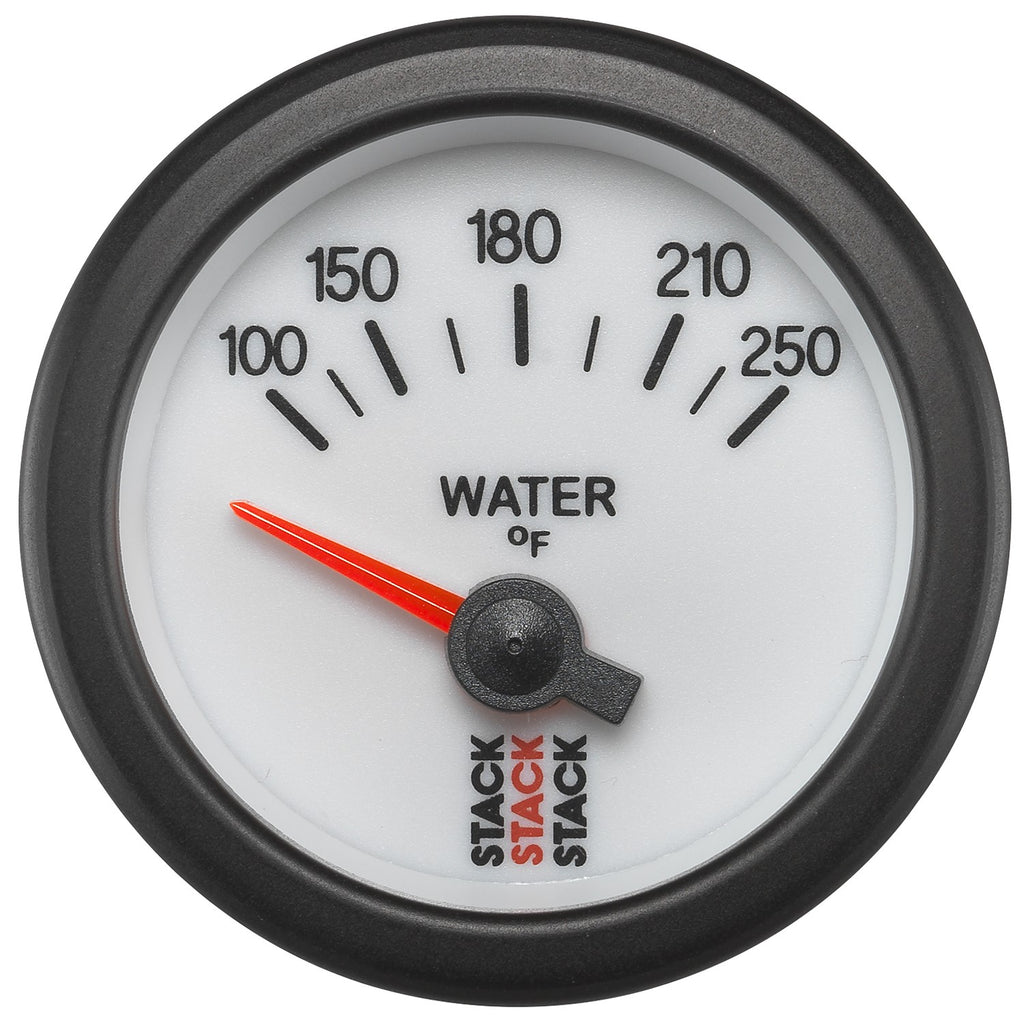 AutoMeter - WATER TEMP, ELECTRIC, 52MM, WHT, 100-250 °F, AIR-CORE, 1/8