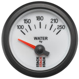 "AutoMeter - WATER TEMP, ELECTRIC, 52MM, WHT, 100-250 °F, AIR-CORE, 1/8"" NPTF (ST3258)"