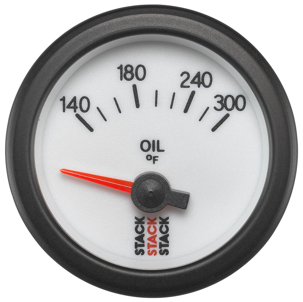AutoMeter - OIL TEMP, ELECTRIC, 52MM, WHT, 140-300 °F, AIR-CORE, 1/8