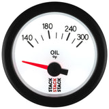 "AutoMeter - OIL TEMP, ELECTRIC, 52MM, WHT, 140-300 °F, AIR-CORE, 1/8"" NPTF (ST3260)"