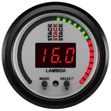 AutoMeter - WIDEBAND AIR-FUEL RATIO (LAMBDA), 52MM, STACK, WHT (ST3404)