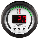 "AutoMeter - 2-1/16"" BOOST CONTROLLER, -1 TO +2 BAR (-30INHG TO +30 PSI), STACK WHT (ST3462)"