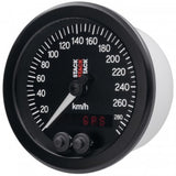 AutoMeter - 88MM SPEEDOMETER, GPS, 0-290 KM/H, STACK BLK (ST3804)