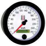AutoMeter - 88MM SPEEDOMETER, 0-260 KM/H, STACK WHT (ST3852)