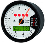 AutoMeter - DISPLAY TACHOMETER, WHITE, 0-4-10.5K RPM (ST700SR-K)
