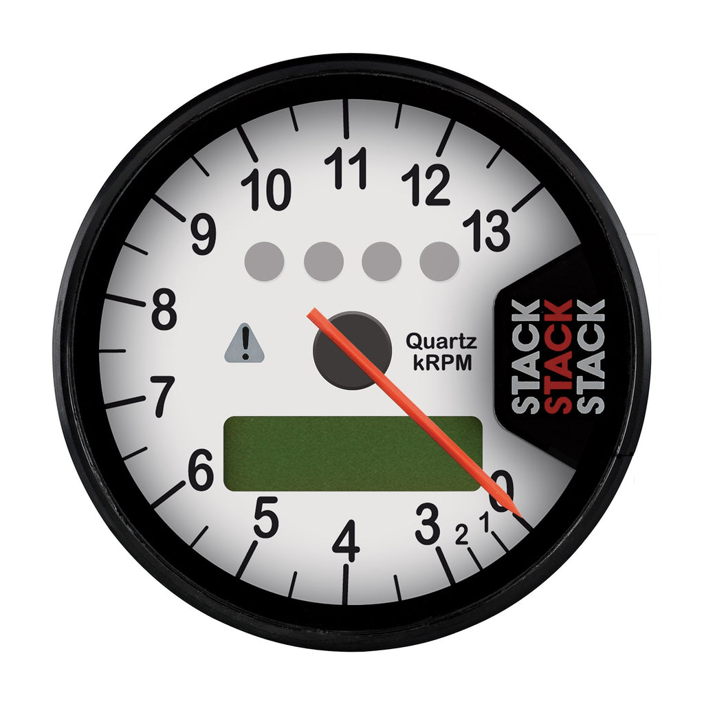 AutoMeter - DISPLAY TACHOMETER, WHITE, 0-3-13K RPM (ST700SR-O)