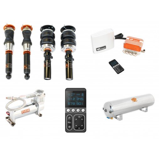 K-SPORT - KSPORT -Nissan 240sx 1995-1998 Airtech Pro Plus Air Suspension System (CNS220-APP)