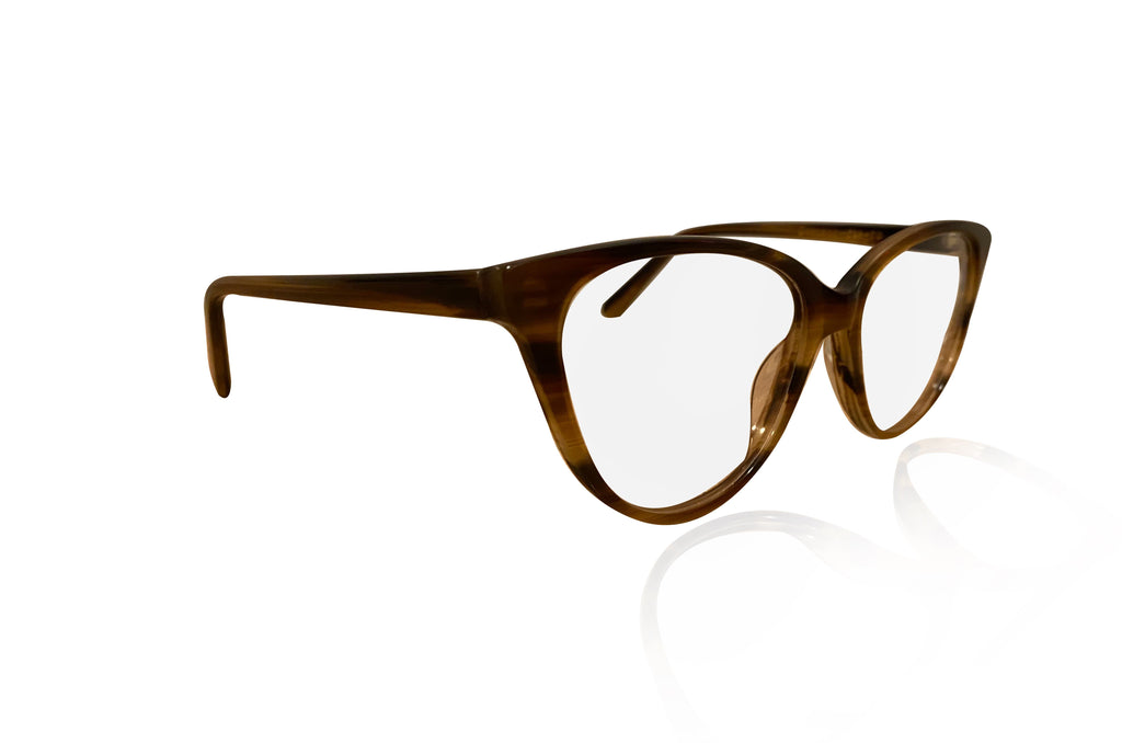 two tone cat eye glasses
