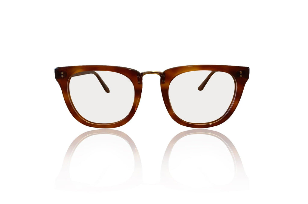 brown glasses