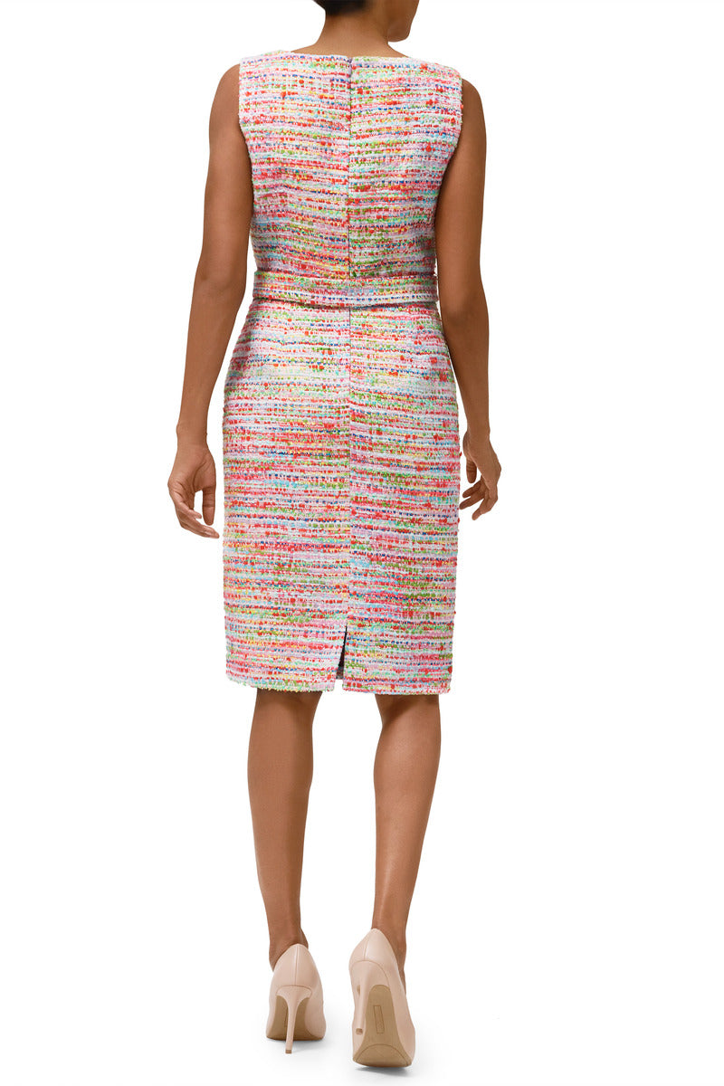 Peyton Candy-Confetti Tweed Sheath