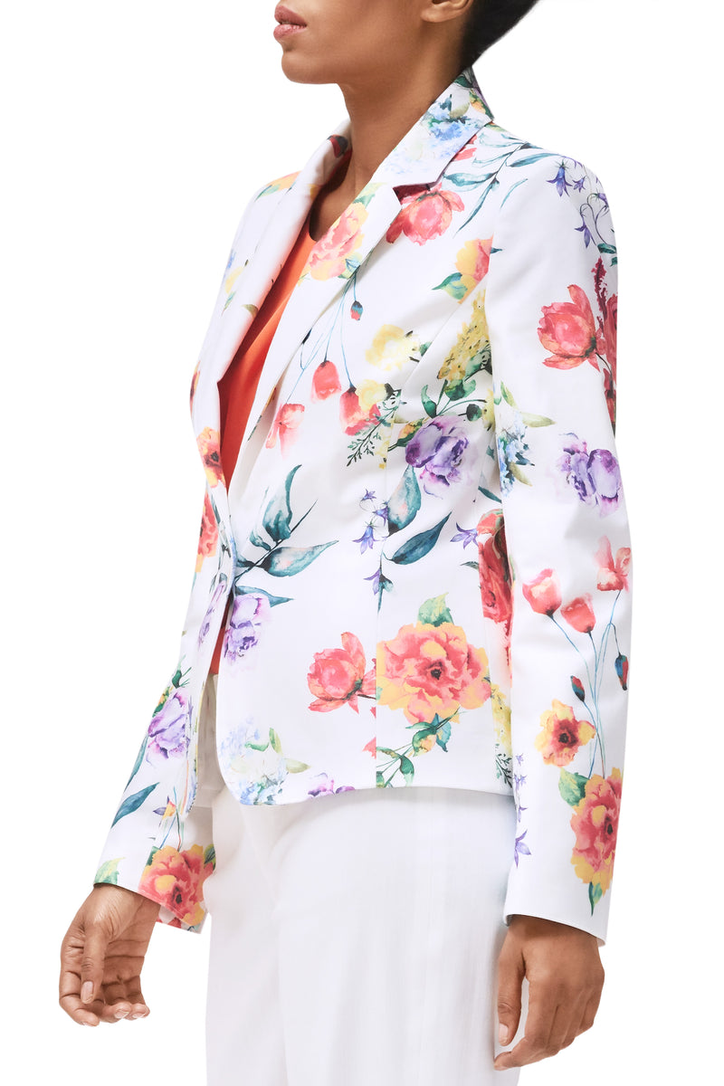 Jillian Stretch Cotton Blazer