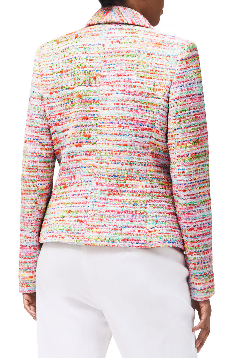 Peyton Candy-Confetti Tweed Blazer