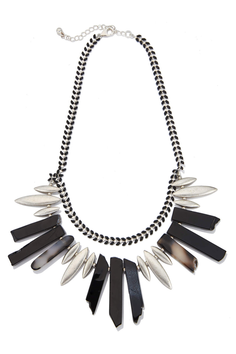 Agate Spear Necklace