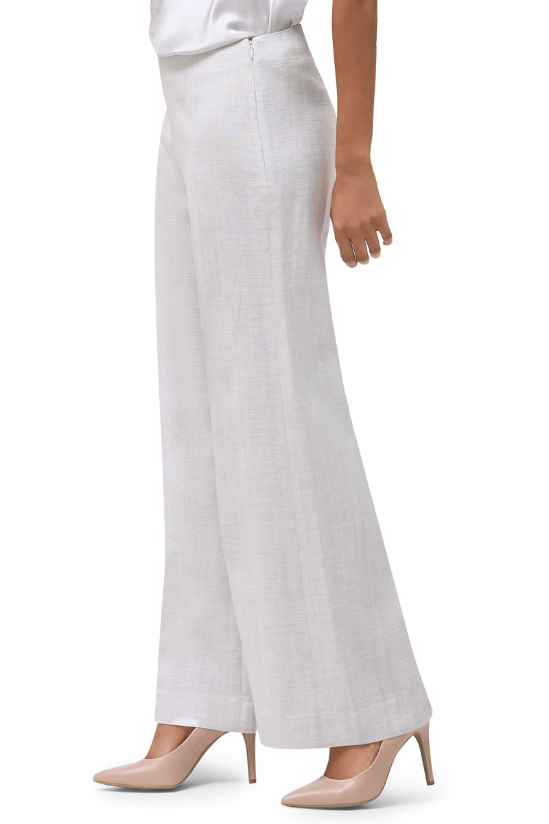 Reese Linen and Viscose Wide Leg Trouser