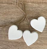 Wooden Hearts - 3pcs