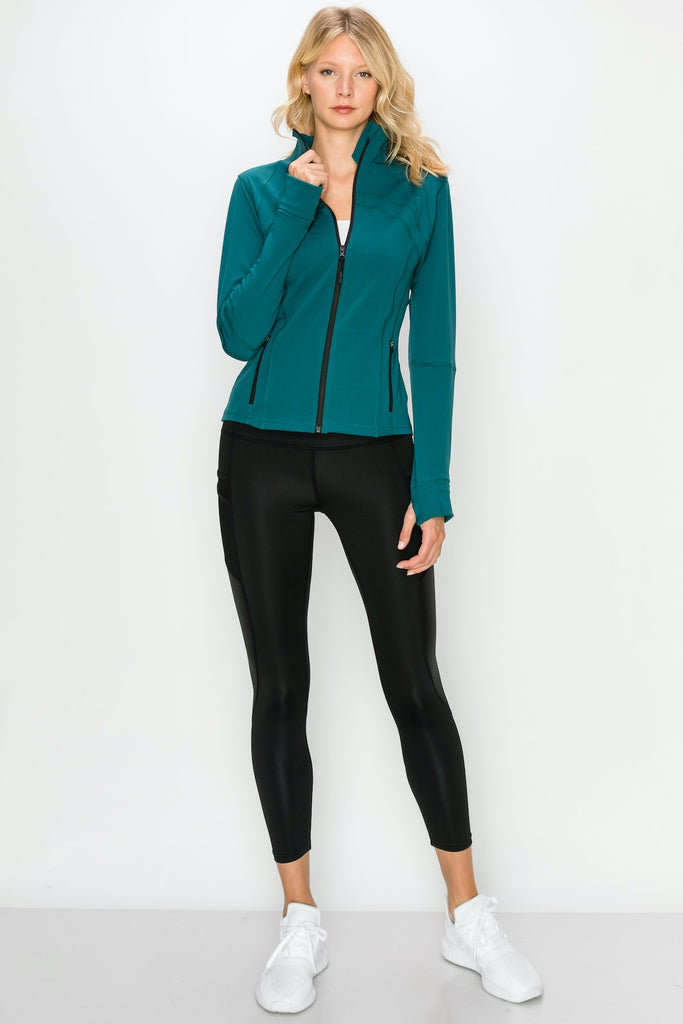 TP3447-Teal | Active Full Zip-Up Jacket